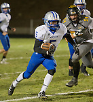 McQueen running back # Damont Saah runs against Galena in their Northern Division I playoff football game played on Friday night, November 6, 2015 at Galena High School in Reno, Nevada.