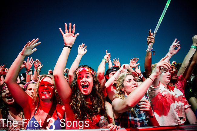 Calvin Harris performs during Day 1 of the 2013 Firefly Music Festival in Dover, Delaware.