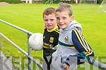 Danny Greaney and TJ Heaphy at St Pats Blennerville GAA Cul Camp on Friday.