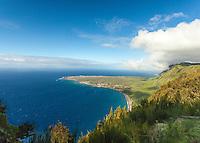 A view of Kalaupapa peninsula from Kalaupapa Lookout, Pala'au State Park, Moloka'i