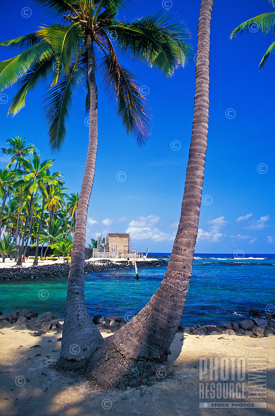 Pu'uhonua o Honaunau National Historical Park also know as the City of Refuge. A restored place of refuge for those who had broken taboos or were defeated in battle.  Located in south Kona.