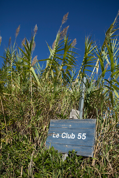 Club 55 on Pampelonne Beach, Ramatuelle, near Saint Tropez, France, 16 October 2013