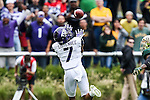 TCU Horned Frogs wide receiver Kolby Listenbee (7) in action during the game between the TCU Horned Frogs and the Baylor Bears at the McLane Stadium in Waco, Texas. TCU leads Baylor 31 to 27 at halftime.