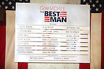 Cast Board.during the Broadway Opening Night Performance Curtain Call for 'Gore Vidal's The Best Man' at the Gerald Schoenfeld Theatre in New York City on 4/1/2012