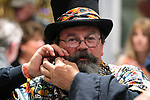 Dave King from Reno adjust his beard as dozens of artists from around the state of Nevada who performed or demonstrating their crafts at the annual Capital Collage in Carson City, Nev., on Friday, October 27, 2017. <br /> Photo by Lance Iversen/Nevada Momentum