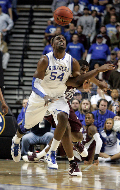 Junior forward Patrick Patterson chases the ball down court in the first half of UK's win 75-74 over Mississippi State  Bridgestone Arena in the SEC Finals on Sunday, March 14, 2010. Photo by Britney McIntosh | Staff