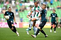 GRONINGEN - Voetbal, FC Groningen - Werder Bremen, voorbereiding seizoen 2018-2019, 29-07-2018, FC Groningen speler Jesper Drost met Ole Kauper