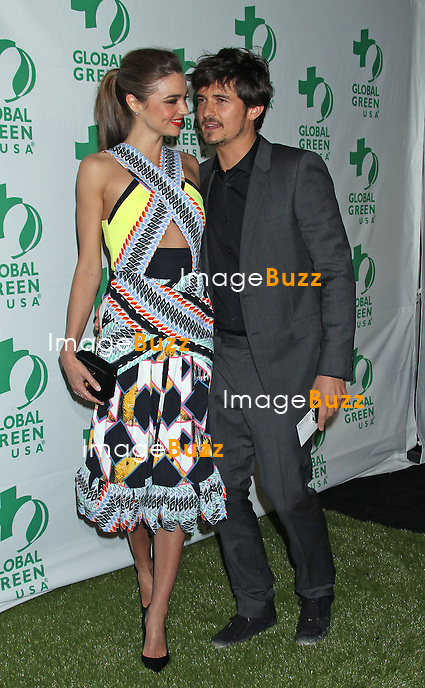 Miranda Kerr, Orlando Bloom, Global Green USA's 10th Annual Pre-Oscar Party at The Avalon in Hollywood. Los Angeles, February 20, 2013.