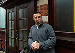 WATERBURY, CT. 21 December 2018-122118 - Former Waterbury detective George Tirado stands in front of a iconic city restaurant, Drescher's on Leavenworth in Waterbury on Friday. Tirado plans to reopen the former restaurant sometime this winter. Bill Shettle Republican-American