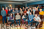 Francie Conway pictured with family and friends in the Ashe Hotel on Saturday after recieving a civic award in Killarney on Friday night.