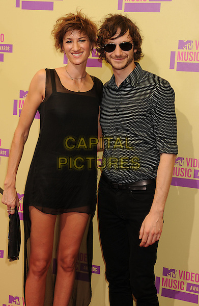 Gotye.arriving at the 2012 MTV Video Music Awards at Staples Center in Los Angeles, California, USA, .September 6th, 2012..arrivals vmas vma  half length black dress sunglasses shirt print  mesh sheer .CAP/ROT/TM.©TM/Roth Stock/Capital Pictures