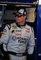 Oct 3, 2008; Talladega, AL, USA; NASCAR Sprint Cup Series driver Jimmie Johnson during practice for the Amp Energy 500 at the Talladega Superspeedway. Mandatory Credit: Mark J. Rebilas-