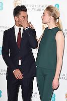 Dominic Cooper and Sophie Turner<br /> at the announcement of the nominations for the 2017 EE BAFTA Film Awards, BAFTA, London<br /> <br /> <br /> &copy;Ash Knotek  D3215  10/01/2017