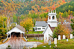 The Stark Union Church and covered bridge, Stark, NH