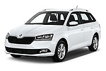 2019 Skoda Fabia-Combi Ambition 5 Door Wagon Angular Front automotive stock photos of front three quarter view