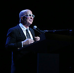 Paul Shaffer performing at the Dramatists Guild Foundation toast to Stephen Schwartz with a 70th Birthday Celebration Concert at The Hudson Theatre on April 23, 2018 in New York City.