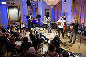 Washington, DC - July 21, 2009 -- Alison Krauss and Union Station perform  for United States President Barack Obama, his family and invited guests at an event celebrating country music in the East Room of the White House in Washington DC, USA on 21 July 2009. Artists scheduled to perform included Charley Pride, Brad Paisley and Alison Krauss and Union Station. .Credit: Matthew Cavanaugh / Pool via CNP