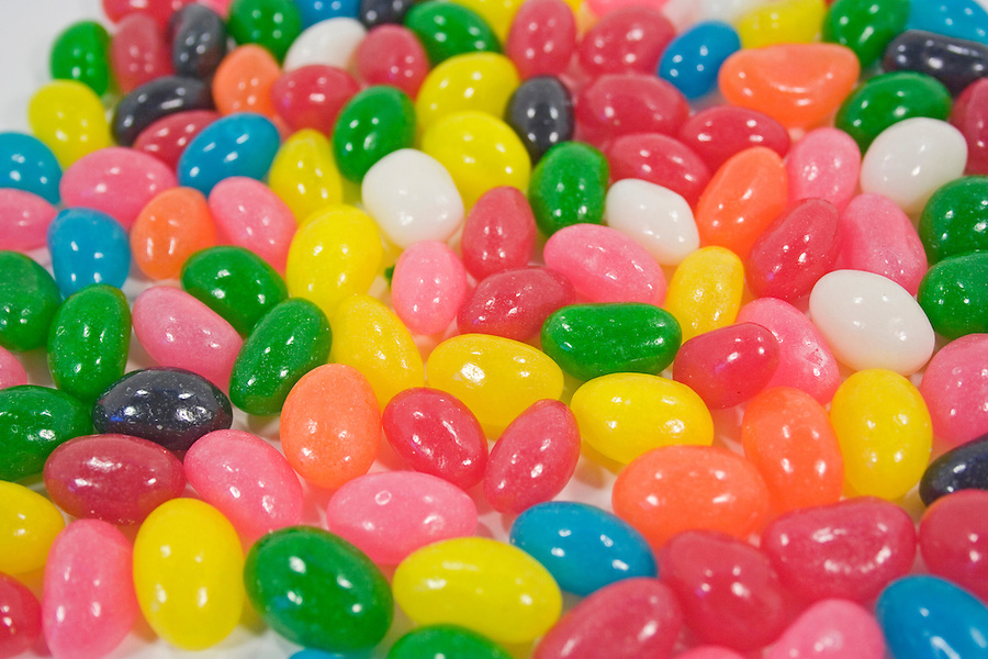 Easter jelly beans shot mid range for texture or background