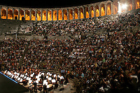 The audience at the Aspendos international ballet and opera festival, Antalya, Turkey