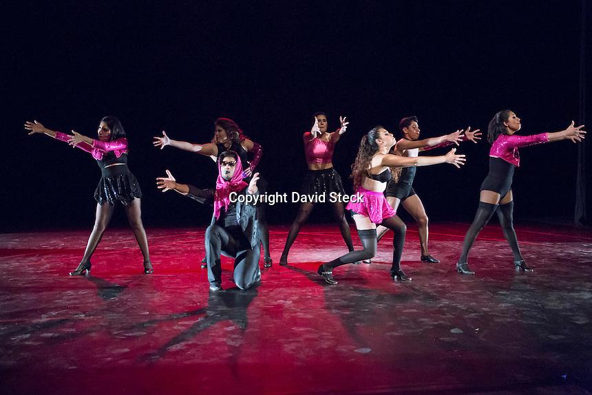 Quer&eacute;taro, Qro. 07 de Diciembre de 2016.- &quot;Cabaret Nights, Homenaje a Bob Fosse&quot;, representado por alumnos y egresados de danza de la UAQ fue la obra que abri&oacute; el &quot;Festival Internacional Arte M&oacute;vil&quot; en el Museo de la Ciudad.<br /> <br /> El evento, se lleva a cabo del 7 al 10 de diciembre con dos funciones diarias de danza y teatro.<br /> <br /> Foto: David Steck