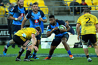 Bulls' Lizo Gqoboka in action during the Super Rugby quarterfinal between the Hurricanes and Bulls at Westpac Stadium in Wellington, New Zealand on Saturday, 22 June 2019. Photo: Dave Lintott / lintottphoto.co.nz