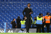 Manchester United recent signing, Odion Ighalo, walks onto the pitch ahead of kick-off during Chelsea vs Manchester United, Premier League Football at Stamford Bridge on 17th February 2020