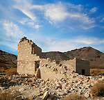 A Crumbling Structure At Rhyolite Nevada, An Abandoned Town Near Death Valley, USA