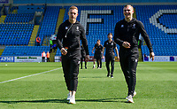 Lincoln City's Danny Rowe, left, and Lincoln City's Harry Anderson prior to the game<br /> <br /> Photographer Chris Vaughan/CameraSport<br /> <br /> The EFL Sky Bet League Two - Carlisle United v Lincoln City - Friday 19th April 2019 - Brunton Park - Carlisle<br /> <br /> World Copyright © 2019 CameraSport. All rights reserved. 43 Linden Ave. Countesthorpe. Leicester. England. LE8 5PG - Tel: +44 (0) 116 277 4147 - admin@camerasport.com - www.camerasport.com