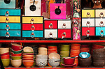 Souvenirs - Lacquerware souvenir boxes in a shop in Hang Trong St, Hanoi Old Quarter, Vietnam
