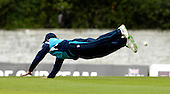 STOCK - CB40 Cricket - Saltires V Durham at Grange CC Edinburgh - Calum MacLeod at full stretch - Picture by Donald MacLeod - 16.05.11 - 07702 319 738 - www.donald-macleod.com - clanmacleod@btinternet.com