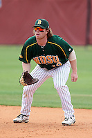 North Dakota State Bison first baseman Nick Colwell #19 during a game against the Pennsylvania Quakers at Henley Field on March 11, 2012 in Lakeland, Florida.  North Dakota State defeated Pennsylvania 15-3.  (Mike Janes/Four Seam Images)