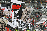 Fans von Eintracht Frankfurt - 31.03.2019: Eintracht Frankfurt vs. VfB Stuttgart, Commerzbank Arena, DISCLAIMER: DFL regulations prohibit any use of photographs as image sequences and/or quasi-video.
