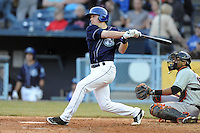 Asheville Tourists shortstop Trevor Story #3 swings at a pitch during a game between the Delmarva Shorebirds and the Asheville Tourists at McCormick Field, Asheville, North Carolina April 7, 2012. The Tourists won game one of a double header  8-4  (Tony Farlow/Four Seam Images)..