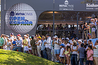 Crowds watching during the third round of the Mutuactivos Open de Espana, Club de Campo Villa de Madrid, Madrid, Madrid, Spain. 05/10/2019.<br /> Picture Hugo Alcalde / Golffile.ie<br /> <br /> All photo usage must carry mandatory copyright credit (© Golffile | Hugo Alcalde)