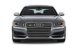 Car photography straight front view of a 2016 Audi S8 4.0-TFSI-quattro-Tiptronic-Plus  4 Door Sedan