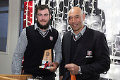 Under 19 Most Improved Player of the Year David O'Connell with Nick Leger. Counties Manukau Rugby Unions Senior Prize giving held at ECOLight Stadium Pukekohe on Wednesday November 2nd, 2016.<br /> Photo by Richard Spranger.