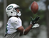 Frankie Hammond #14 makes a catch during New York Jets Training Camp at the Atlantic Health Jets Training Center in Florham Park, NJ on Tuesday, Aug. 8, 2017.
