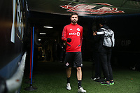 SEATTLE, WA - NOVEMBER 9: Drew Moor #3 of Toronto FC takes the field at CenturyLink Field on November 9, 2019 in Seattle, Washington.