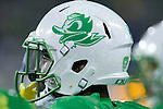 Oct 07, 2015; Eugene, OR, USA; Oregon Ducks cornerback Ugo Amadi (14) sports the Ducks' helmet before playing California Golden Bears at Autzen Stadium. <br /> Photo by Jaime Valdez