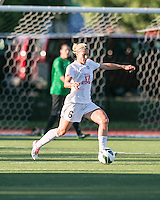 In a National Women's Soccer League Elite (NWSL) match, the Boston Breakers defeated the FC Kansas City, 1-0, at Dilboy Stadium on August 10, 2013.  FC Kansas City midfielder Jen Buczkowski (6).