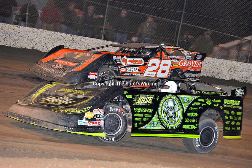 Feb 15, 2014; 9:39:19 PM; Gibsonton, FL., USA; The Lucas Oil Dirt Late Model Racing Series running The 38th Aannual WinterNationals at East Bay Raceway Park.  Mandatory Credit: (thesportswire.net)