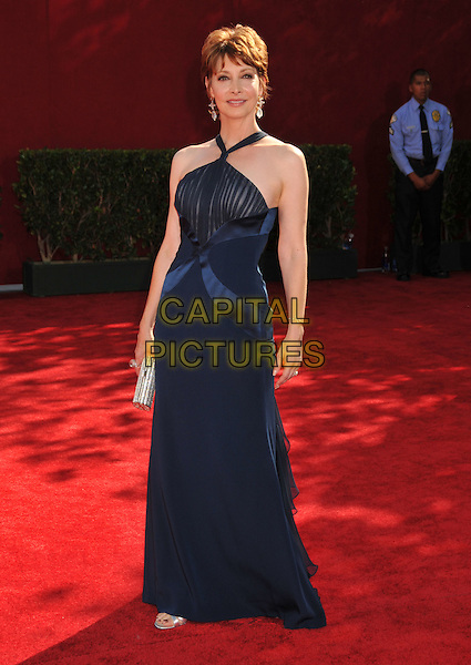 SHARON LAWRENCE .Arrivals at the 61st Annual Primetime Emmy Awards held at NOKIA Theatre L.A. LIVE, Los Angeles, California, USA..September 20th, 2009.full length blue silk satin halterneck dress.CAP/ADM/BP.©Byron Purvis/AdMedia/Capital Pictures.
