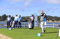 Jerry Kelly (USA) tees off the par3 7th tee at Pebble Beach Golf Links during Saturday's Round 3 of the 2017 AT&amp;T Pebble Beach Pro-Am held over 3 courses, Pebble Beach, Spyglass Hill and Monterey Penninsula Country Club, Monterey, California, USA. 11th February 2017.<br /> Picture: Eoin Clarke | Golffile<br /> <br /> <br /> All photos usage must carry mandatory copyright credit (&copy; Golffile | Eoin Clarke)