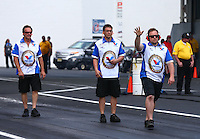 Jun. 2, 2013; Englishtown, NJ, USA: NHRA crew members for pro mod driver Mike Janis during the Summer Nationals at Raceway Park. Mandatory Credit: Mark J. Rebilas-