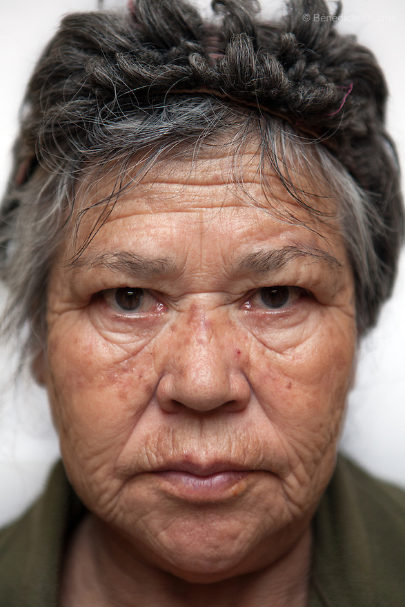 Portrait of Raquel, a resident of Casa Xochiquetzal, at the shelter in Mexico City on April 16, 2012. Casa Xochiquetzal is a shelter for elderly sex workers in Mexico City. It gives the women refuge, food, health services, a space to learn about their human rights and courses to help them rediscover their self-confidence and deal with traumatic aspects of their lives. Casa Xochiquetzal provides a space to age with dignity for a group of vulnerable women who are often invisible to society at large. It is the only such shelter existing in Latin America. Photo by Bénédicte Desrus