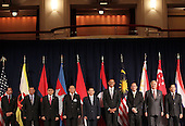 United States President Barack Obama attends a working luncheon with Association of Southeast Asian Nations (ASEAN) leaders, Friday, September 24, 2010 in New York City. Obama has been in New York since Wednesday attending the annual General Assembly at the United Nations, where yesterday he stressed the need for a resolution between Israel and Palestine, and a renewed international effort to keep Iran from attaining nuclear weapons.  From left are:  Sultan Haji Hassanal Bolkiah of Brunei; Cambodia Prime Minister Hun Sen; Indonesia President Susilo Bambang Yudhoyono; Lao President Choummaly Sayasone; Vietnam Prime Minister Nguyen Tan Dung; President Obama; Philippines President Benigno Aquino III; Malaysian Prime Minister Najib Razak; and Myanmar Foreign Minister Nyan Win..Credit: Spencer Platt - Pool via CNP