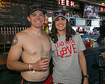 Geoff and Erin during the Cupid's Undie Run to benefit Neurofibromatosis in Reno, Nev., Saturday, Feb. 8, 2020.