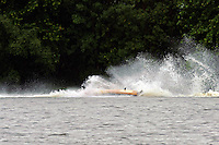 Frame 8: Marissa Affholder(151-M) races into turn 2 chasing 17-M and flips over. (stock outboard runabout)