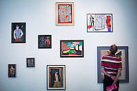Berlin, Ausstellung Zwischen Tradition und Moderne, Frühe Gemälde von Jochen Hass 1950 bis 1955, am Freitag (17.05.13) im Schwulen Museum in Berlin. Foto: Maja Hitij/CommonLens