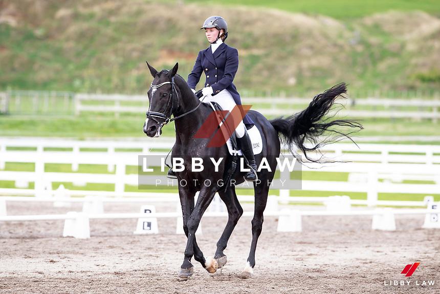 NZL-Emilia Birkholz rides Kiteroa Leila in the Livamol YR - L6/7 FEI YR Test. 2017 NZL-Under 25 Dressage Championships and Para Equestrian National Championships. NEC Taupo. Saturday 1 April. Copyright Photo: Libby Law Photography